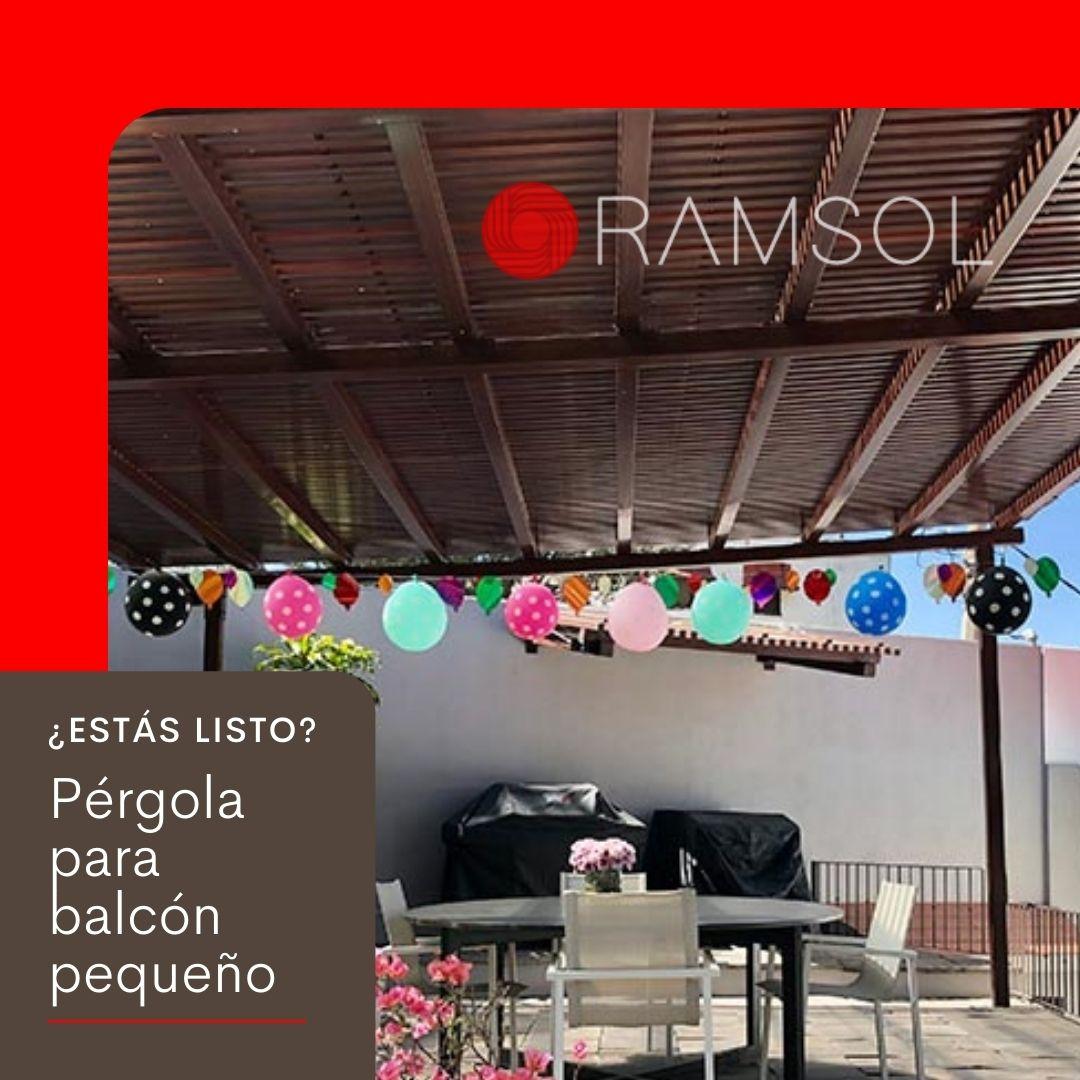 Ramsol_Pérgolas para balcón pequeño de PROLEN